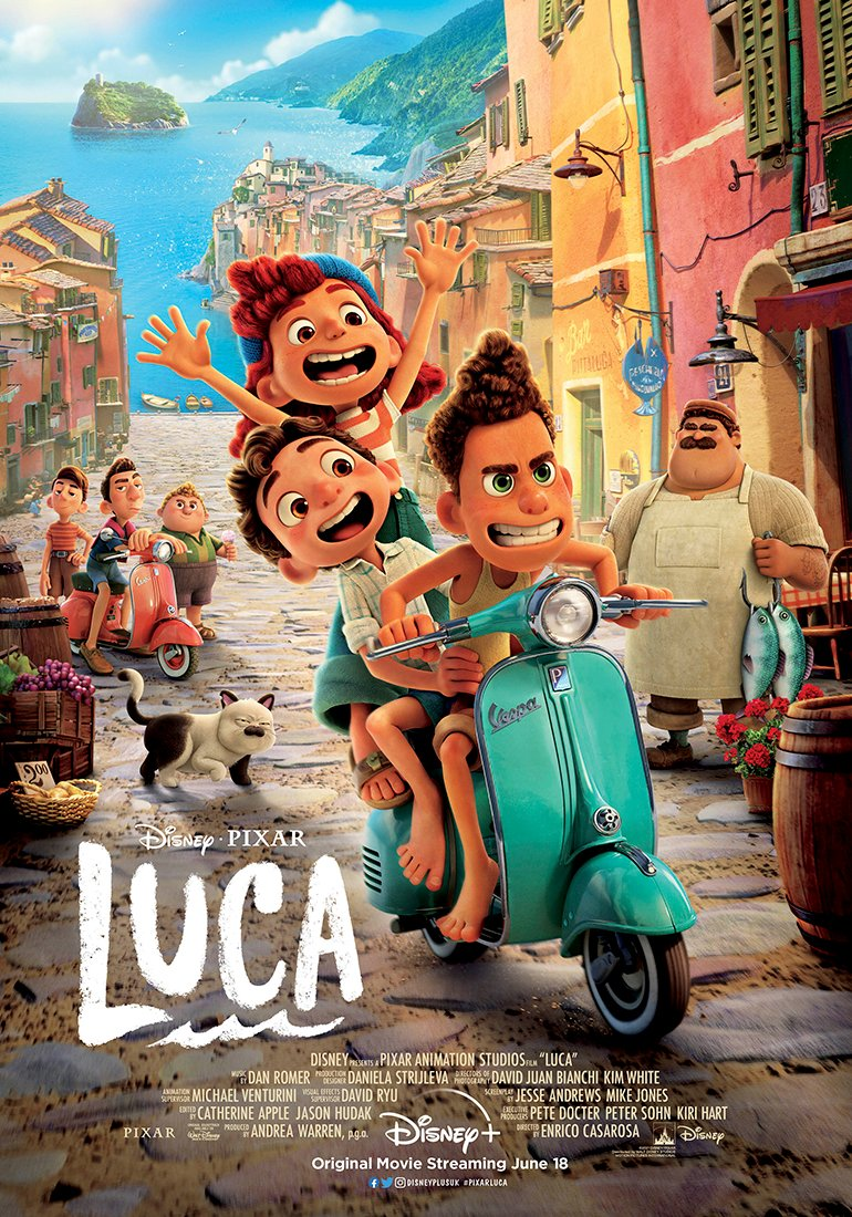 "Disney+ UK on Twitter: ""Go on an unforgettable ride through Portorosso this  summer in #PixarLuca, streaming June 18 only on #DisneyPlusUK. 🛵… """