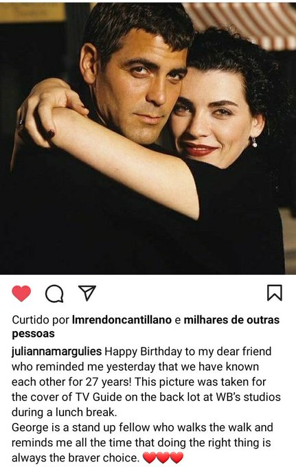 Happy birthday George Clooney  via Julianna Margulies Instagram