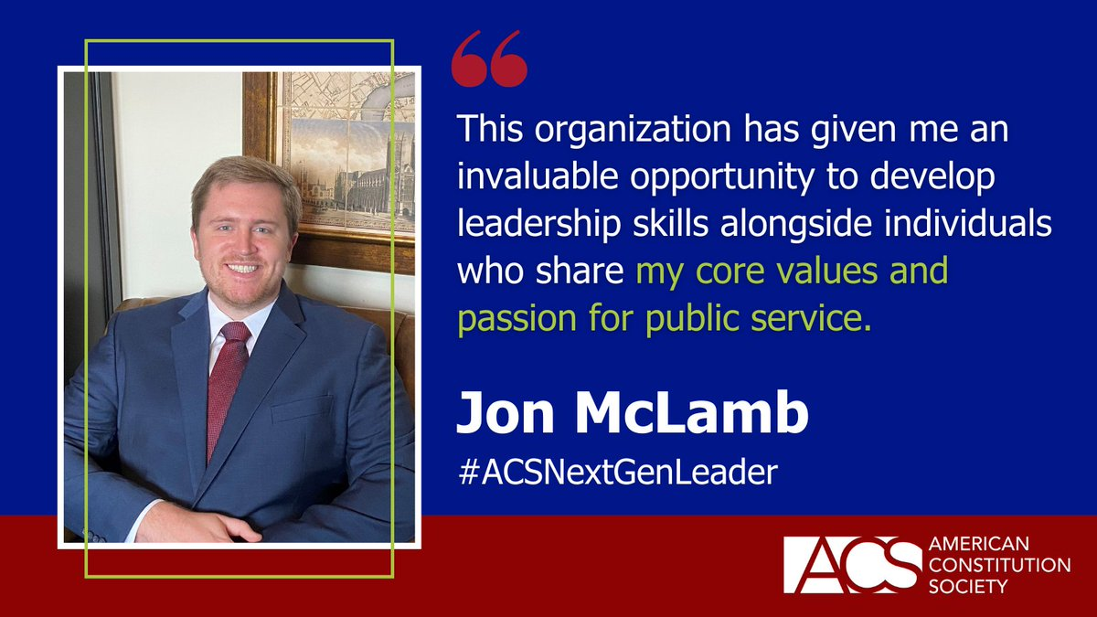 What do you want to tell future progressive legal leaders? Learn about ACS's 2021 Next Generation Leaders and share your best advice here: https://t.co/ttTTBXuEkR #ACSNextGenLeader https://t.co/JGwjxCl8rx
