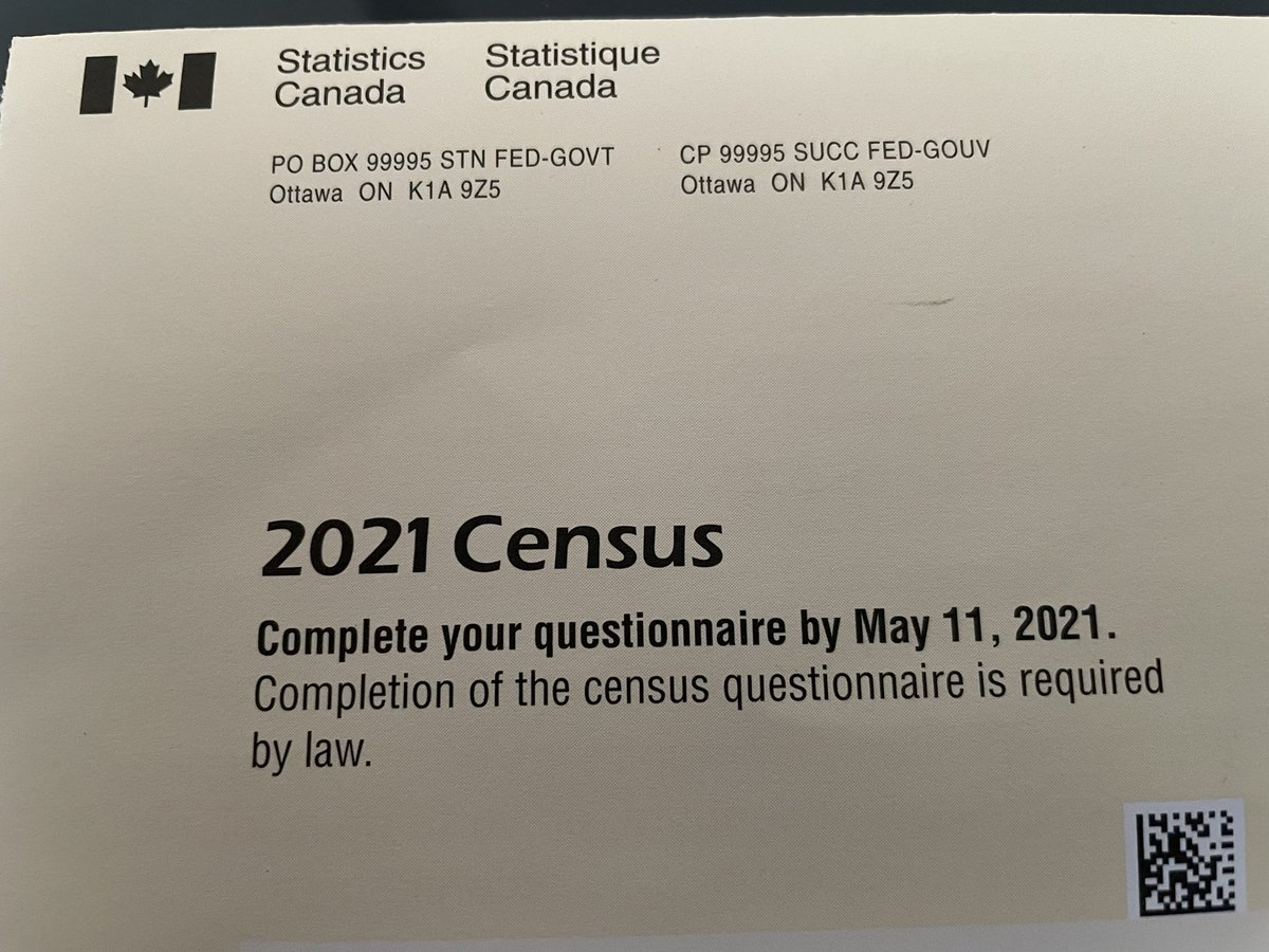 Received the #2021Census and I'm looking forward to completing it! As my first act as Minister in 2015, I was proud to have reinstated the mandatory long form census to help gather important statistics. Complete the census and #becounted