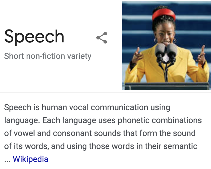 "accidentally google ""speech"" and was delighted to see @TheAmandaGorman as the example."