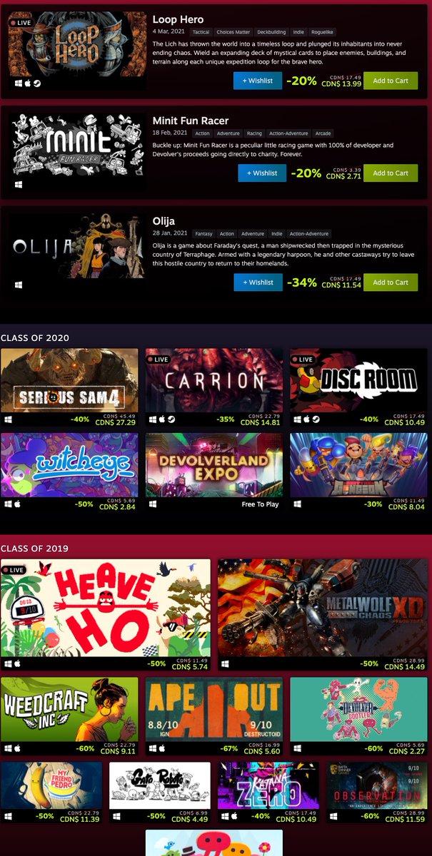 Devolver Digital Sale on Steam