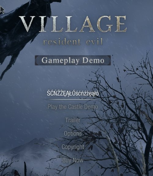 """Polish site """"Graj po polsku"""" dealing with unofficial Polish subtitles has discovered a Polish font in Resident Evil Village. @CapcomEurope why weren't official Polish subtitles added? Were the Polish characters (font) added in order to add official Polish subtitles later? https://t.co/U9QiQl1330"""