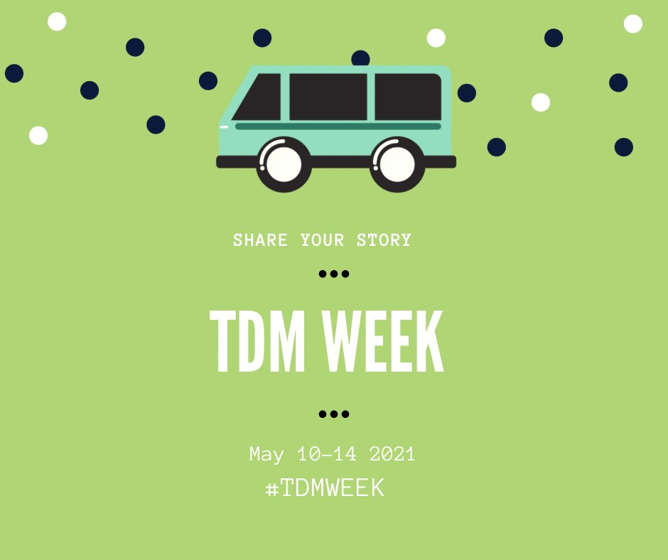 """TDM is key in """"helping improve the quality of life of commuters, the sustainability of our communities, and supporting economic activity."""" We look forward to celebrating #TDMWeek!"""