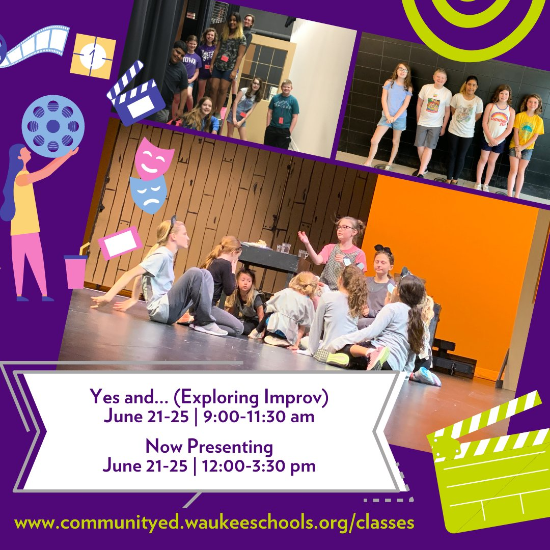 So excited to work with Ms Schaefer! We have great plans for strengthening performance skills, fostering teamwork, & building confidence. Pass this along to young performers. Great class for the beginner and beyond!