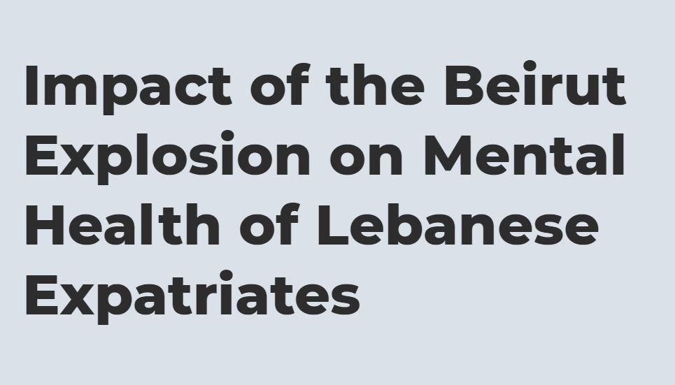 🚨 study alert. For Lebanese expats. Please help me disseminate. https://t.co/iXg22drTDq