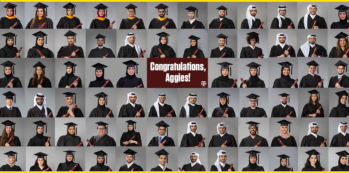 1/4 Congratulations Class of 2021! We are excited to see graduates cross the stage from our 11 A&M System universities in the upcoming weeks. #SystemProud   👇🏽 Featured below is the Texas A&M at Qatar #Classof2021 👍🏽