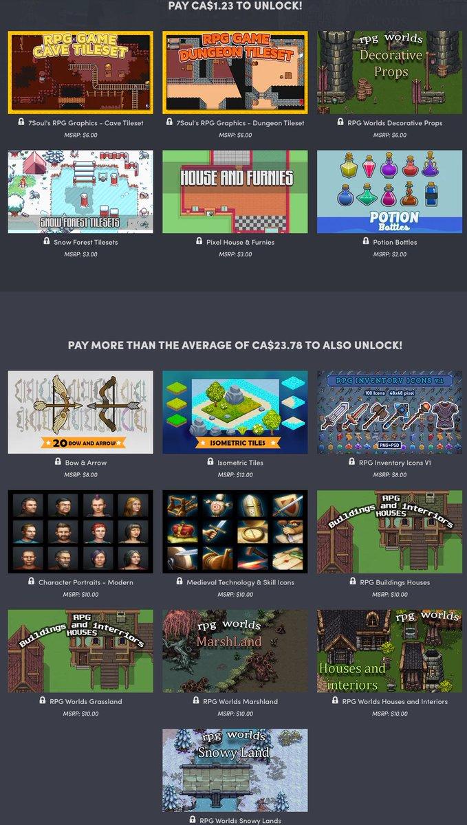 Humble Software Bundle - Royalty Free RPG Game Development Assets