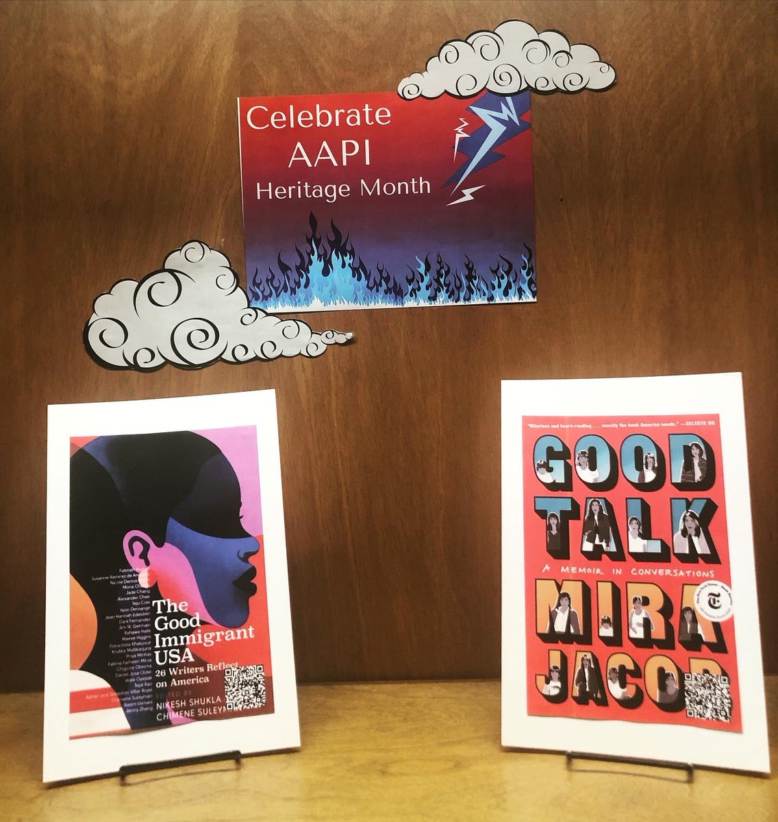 test Twitter Media - Our book display for AAPI heritage month is up! Swing by Olin and check it out - titles were contributed by students in the Asian American Student Collective, Wesleyan Student Assembly, and library student workers! What are you reading to celebrate? #AAPIHM  #AAPIHeritageMonth https://t.co/jg0Y0ePSQR