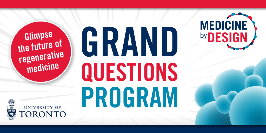 Excited to be gathering in less than an hour for the #GrandQuestions event! If you registered, the event link has been sent to you by email. Please use that link to join us at 10 a.m. and hear about our investment in the future of #regenmed.