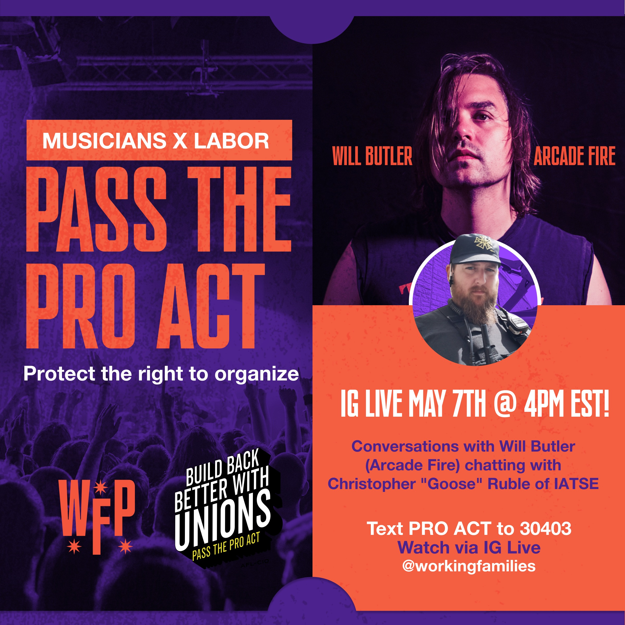Tomorrow: Join us for the next in our series of live conversations on the #PROAct and the right to organize!