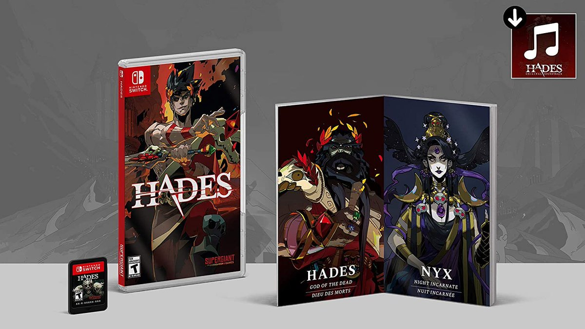 Hades (Switch) [Physical] is back up on Amazon:   $34.99 ships in 1-2 days