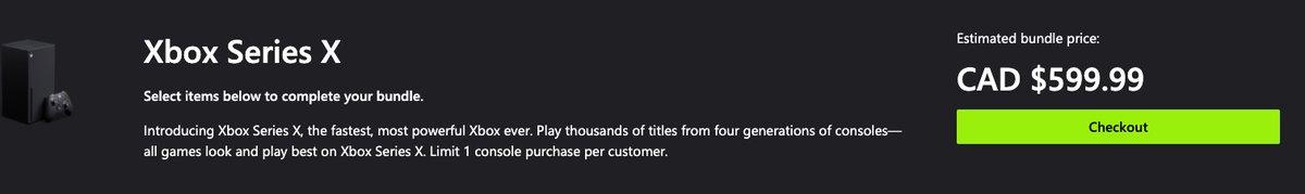 Xbox Series X in stock at Microsoft