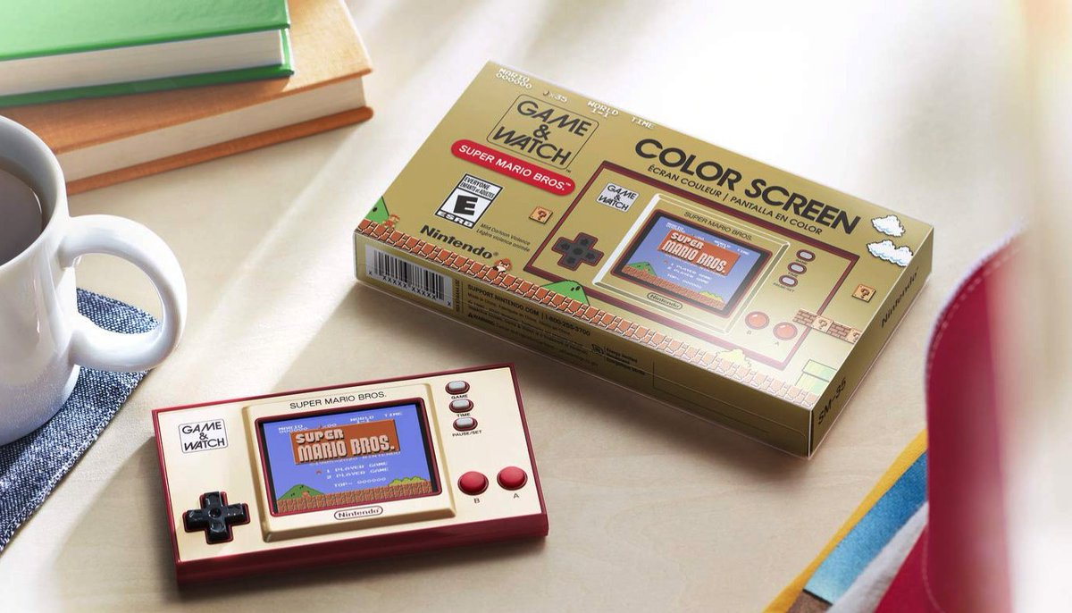 Nintendo Game & Watch: Super Mario Bros. is $44.95 on eBay:   brand new, free shipping