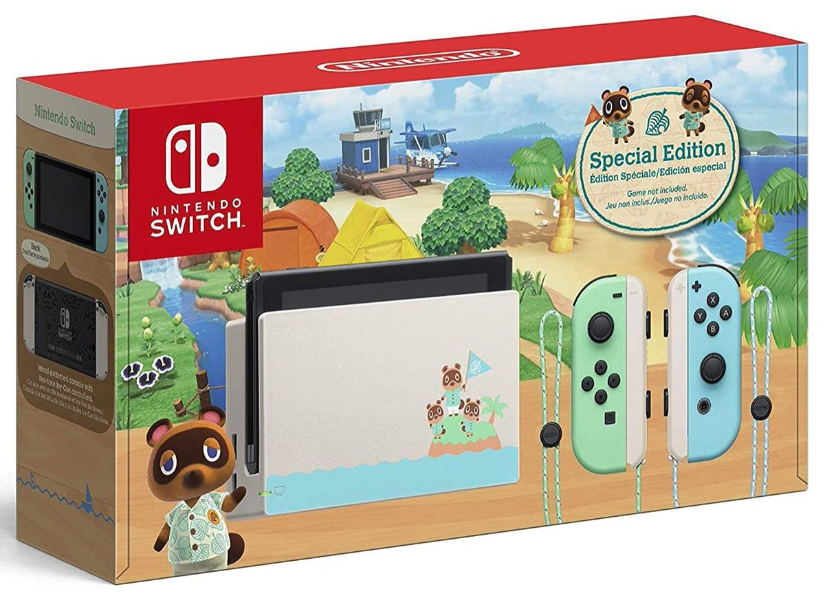 Animal Crossing: New Horizons Special Edition Nintendo Switch is back up on Amazon:   $299