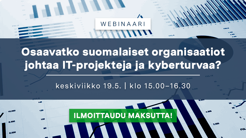 Vielä ehtii mukaan IT- ja digitalisointibarometri -webinaarisarjan kolmanteen osaan – suljemme ilmoittautumisen keskiviikkona klo 13.00!  Tervetuloa mukaan kuulemaan ja keskustelemaan IT:n ja digitalisaation johtamisesta suomalaisissa organisaatioissa.  Lisätiedot 👇