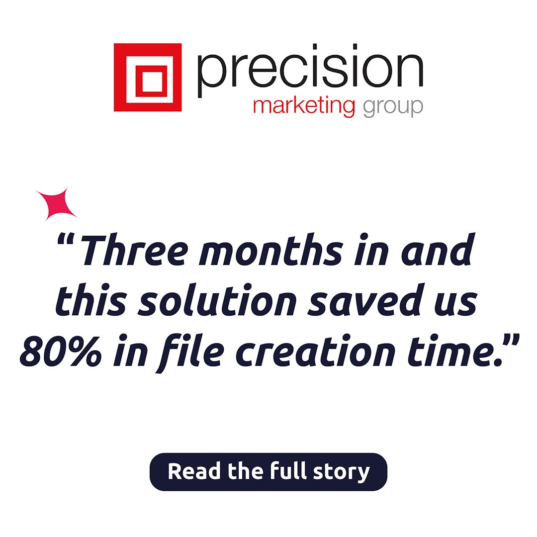 Great to see how our customer @PrecisionMG customers benefit from the online platform powered by @CHILI_publish. If you want to also provide your customers a better solution to manage their campaigns more effectively then ping us to schedule a demo