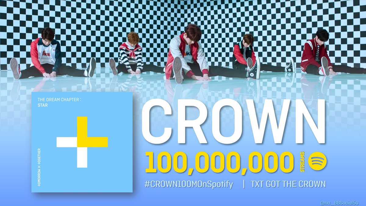 #CROWN100MOnSpotify