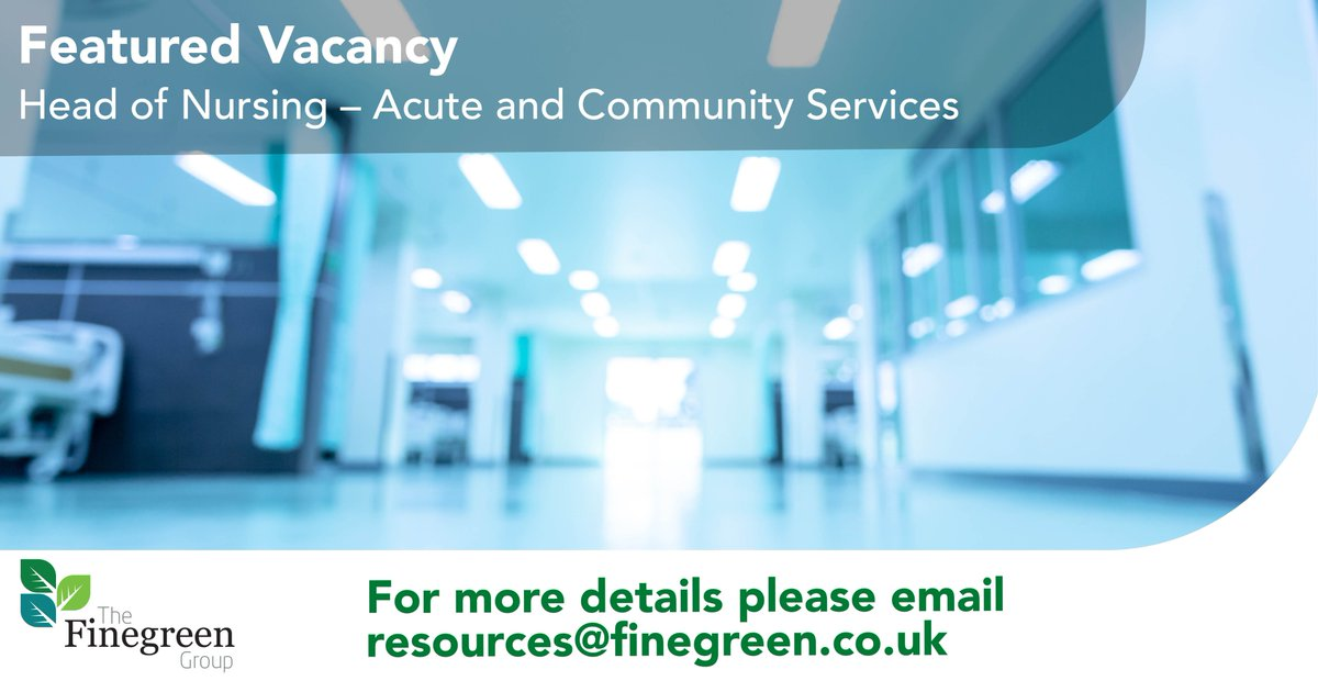 **Featured Vacancy** Head of Nursing, London  A large healthcare organisation is looking to appoint an experienced senior #nurse, who has worked within an acute setting at senior management level. For more details and to apply; https://t.co/EuPjiAOerO  #NHSJobs #ClinicalServices https://t.co/JyX9ZZ8vD5