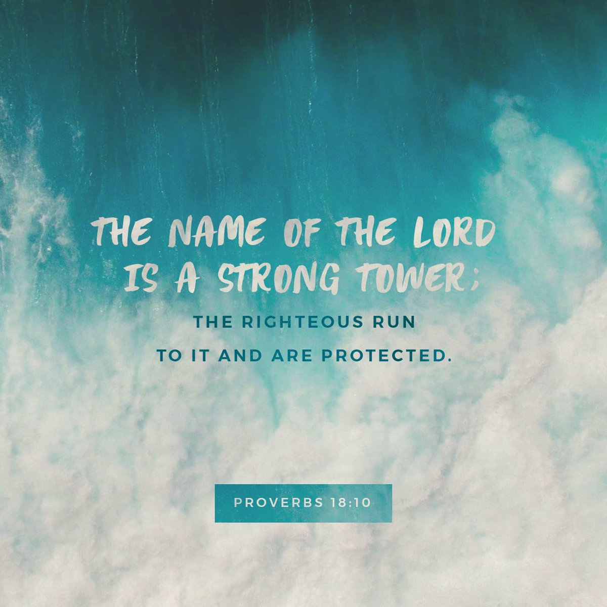 The name of the Lord is a strong fortress; the godly run to him and are safe. Proverbs 18:10 NLT  https://t.co/7nyPMhDG1H https://t.co/CF92N6NSoH