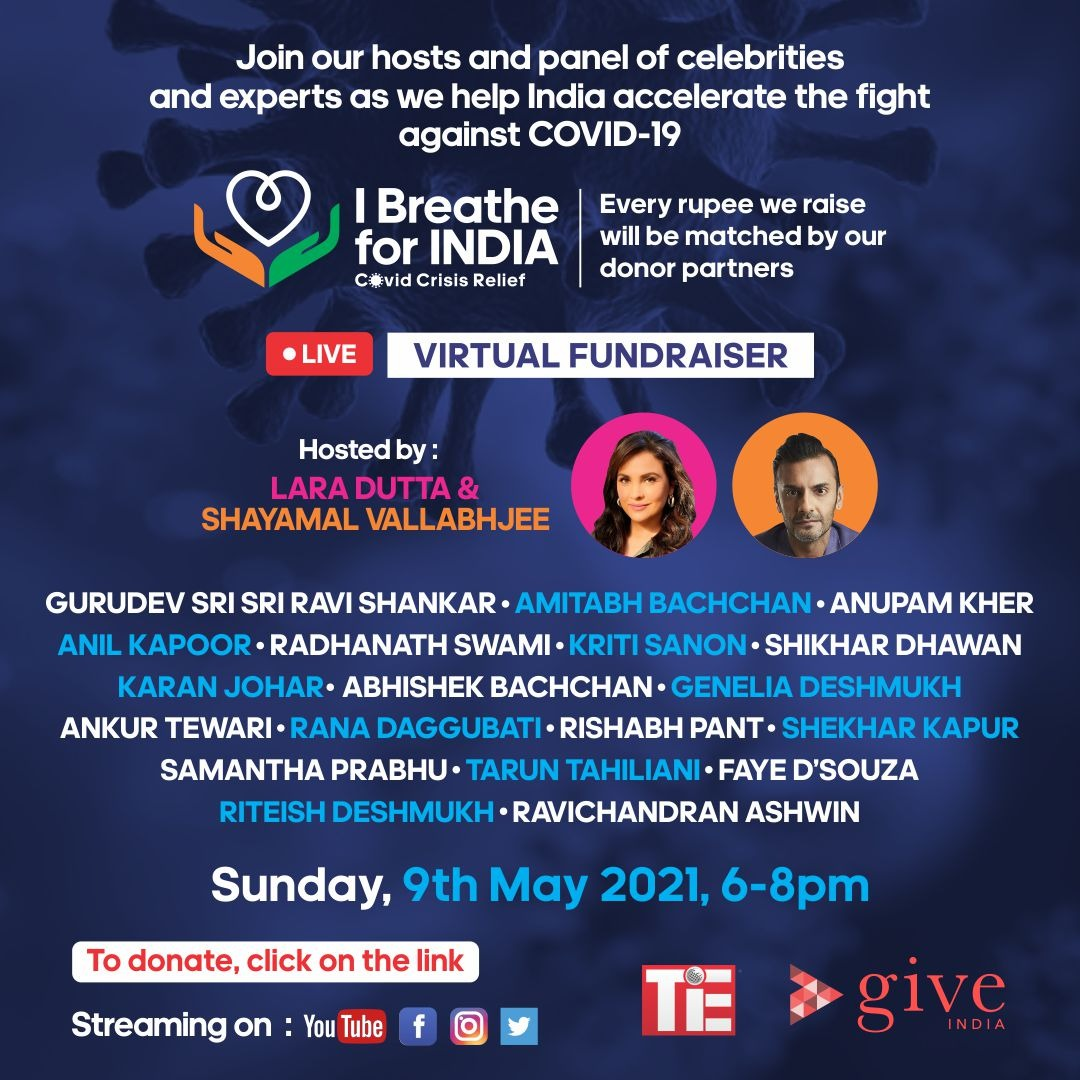 I am Committed to helping India fight COVID-19.  Every rupee we raise through this fundraiser will be doubled by our donor partners.   I BREATHE FOR INDIA, do you? Click on the link     The only way to make a difference is - TOGETHER.   #IBreatheForIndia
