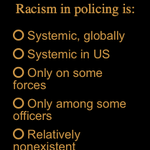 Image for the Tweet beginning: POLL: Racism in policing is