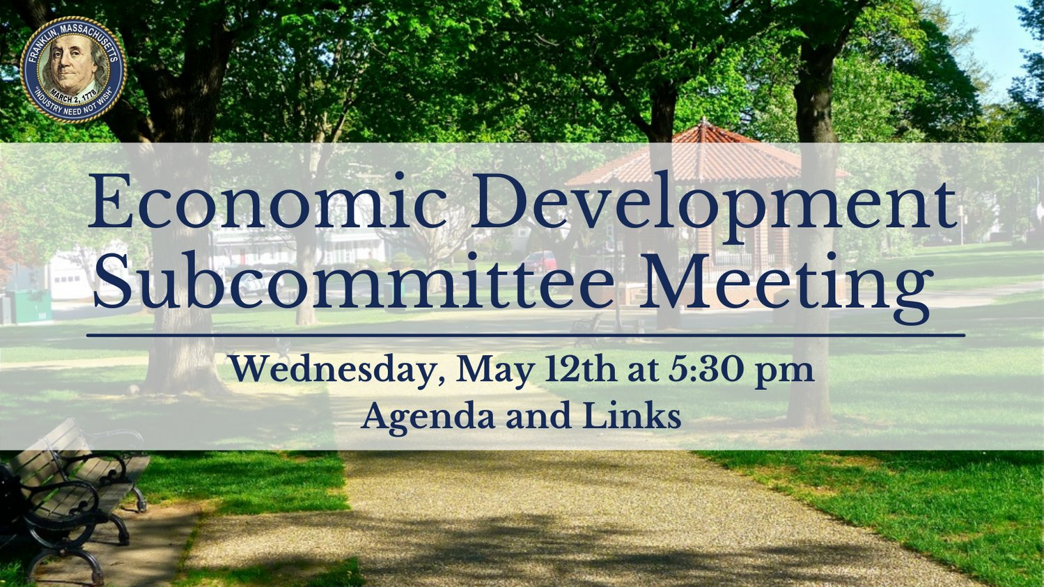 Economic Development Subcommittee Meeting - May 12