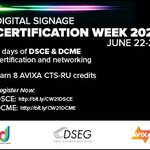 Image for the Tweet beginning: Digital Signage Certification Week is