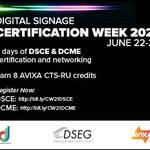 Image for the Tweet beginning: Digital Signage Certification Week is
