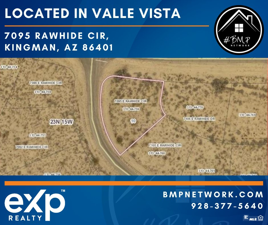 ⭐⭐ Located in Valle Vista ⭐⭐ More Info: https://t.co/AkWK1atthz  BMP Network eXp Realty 928-263-6854  #RealEstate #Realtor #ForSale #LandForSale #LotsForSale #BuildYourDreamHome #eXpRealty #NewListing #HomesForSale #Property #Properties  #BMPNetwork #BMPDaniel https://t.co/HICk0Z2zXs