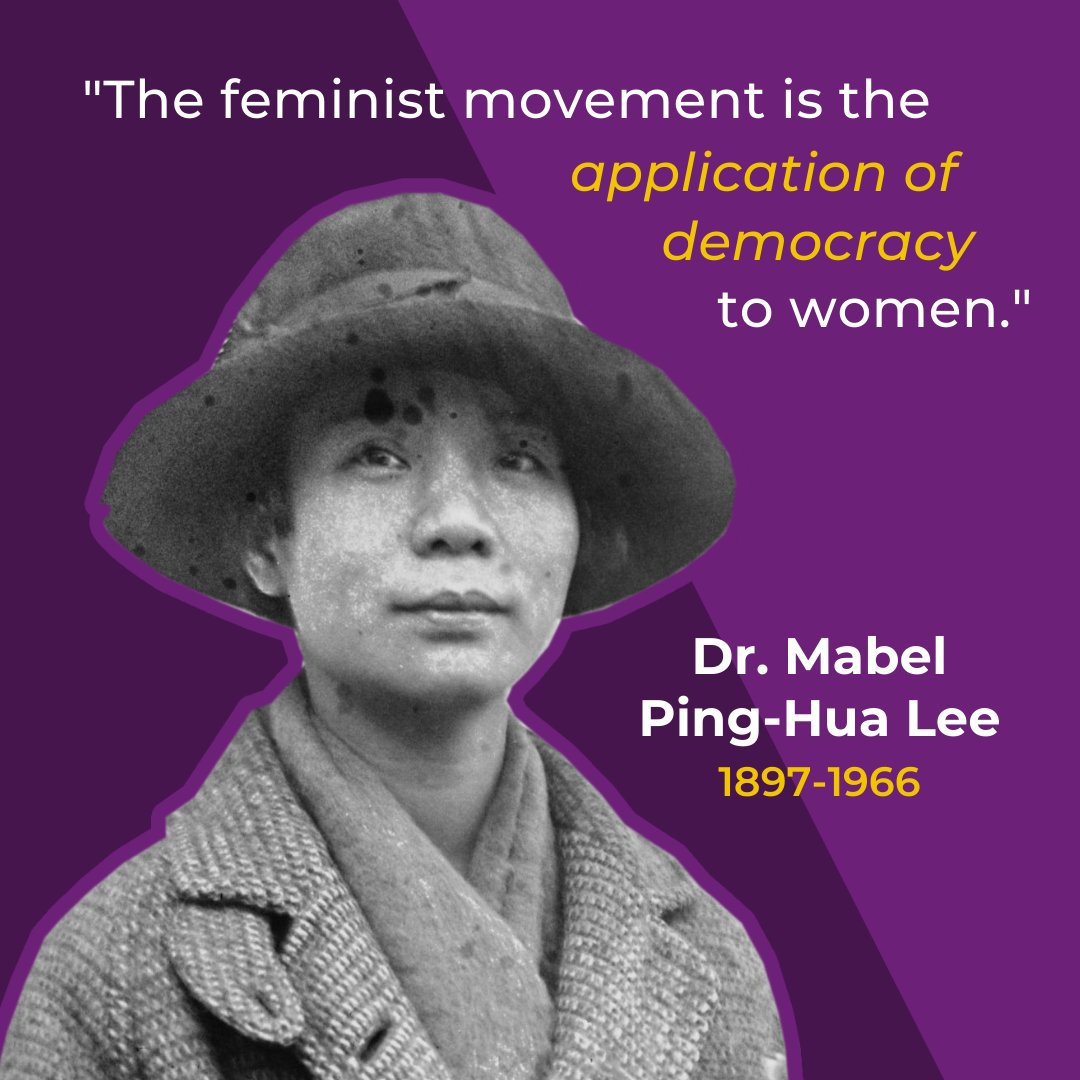 In May 1912, 16-year-old Mabel Ping-Hua Lee rode on horseback ahead of 10,000 protestors in the New York City suffrage parade. She later became the first Chinese American woman to earn a PhD in economics. Read more on her life & legacy here: https://t.co/KBvDnSY4MI #apahm https://t.co/MnJu3reC9v