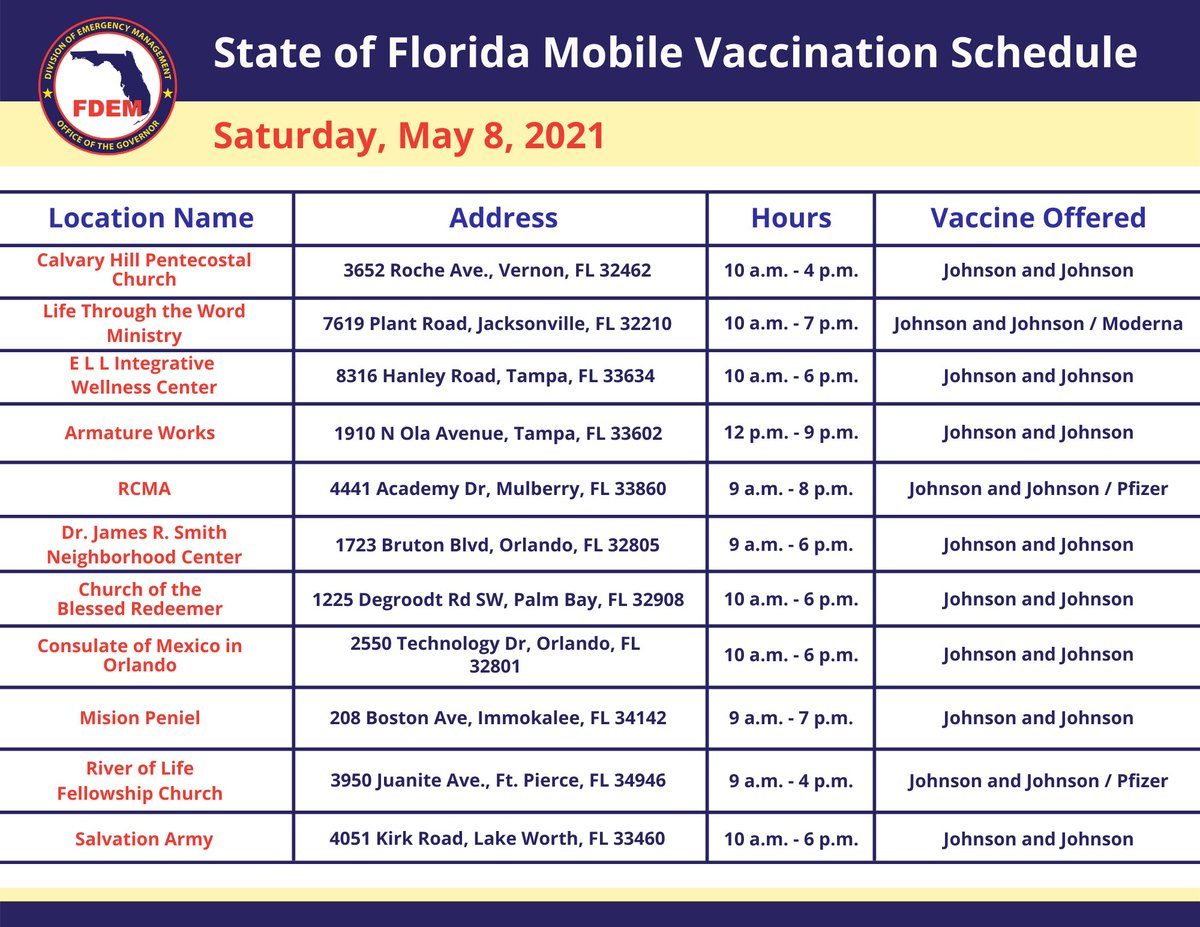💉 This weekend, the state is hosting more than 40 mobile vaccination events statewide. Appointments are not required.   See this weekend's mobile vaccination event schedule below. ⬇️ https://t.co/QGZgjxQ4TC