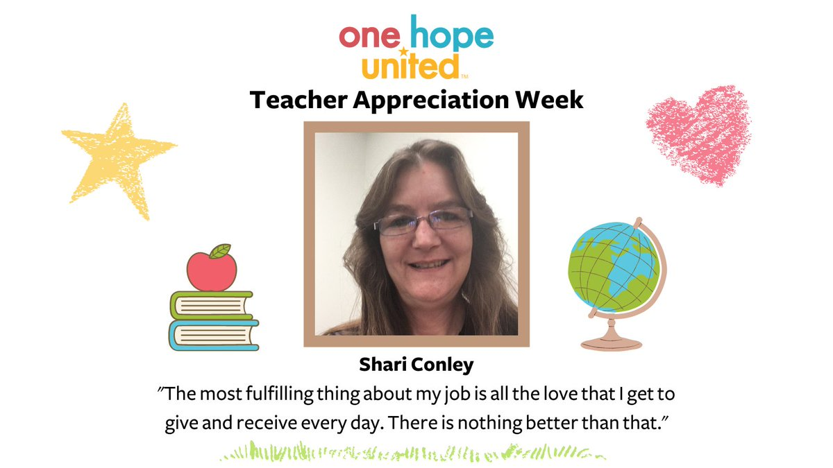 "test Twitter Media - ""I am a teacher in the infant/toddler room at the Joliet Early Learning Center, and the most fulfilling thing about my job is all the love that I get to give and receive every day. There is nothing better than that."" - Shari Conley  #nationalteacherappreciationweek #earlylearning https://t.co/KsPrNFO8gC"