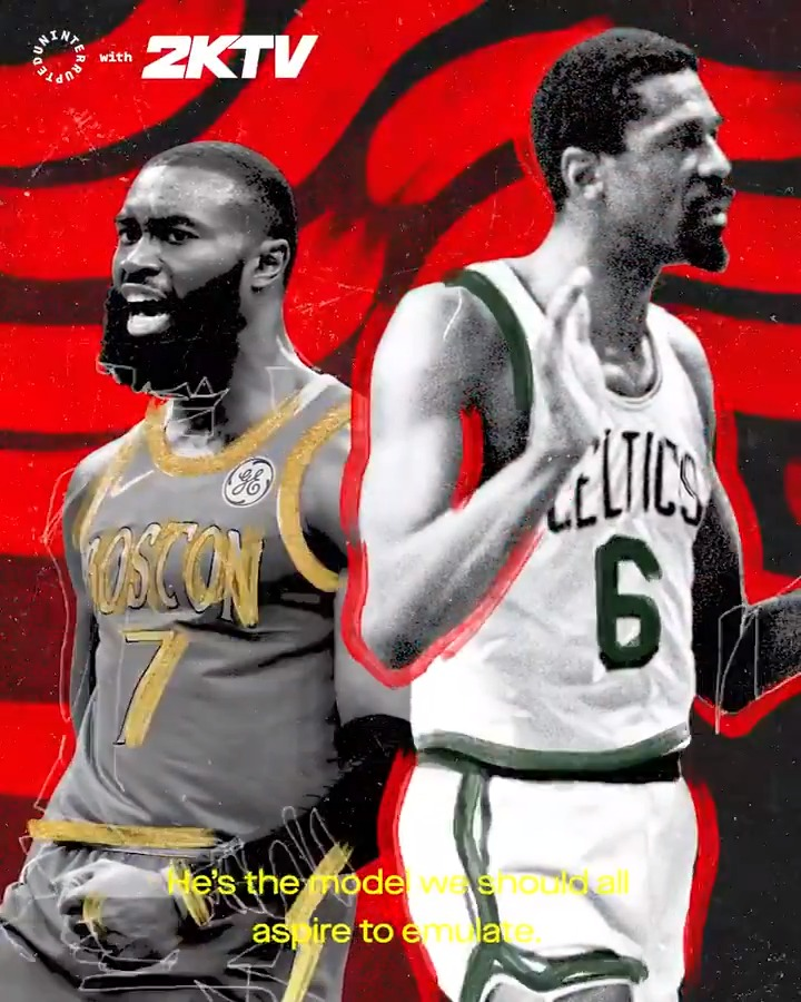 Legends like @RealBillRussell started a legacy of Black athletes like Jaylen Brown who would no longer be silent in the face of social injustices 👊 @FCHWPO  @UNINTERRUPTED's #RespectYourOGs | @nba2k_2ktv 📺 Watch the full episode: https://t.co/ezA0lFFG2n https://t.co/4HQBES6YIG