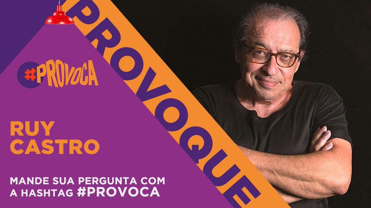 O jornalista, escritor, biógrafo e, acima de tudo, carioca (embora mineiro) Ruy Castro é o próximo entrevistado de @MarceloTas. Mande sua pergunta com a #Provoca.