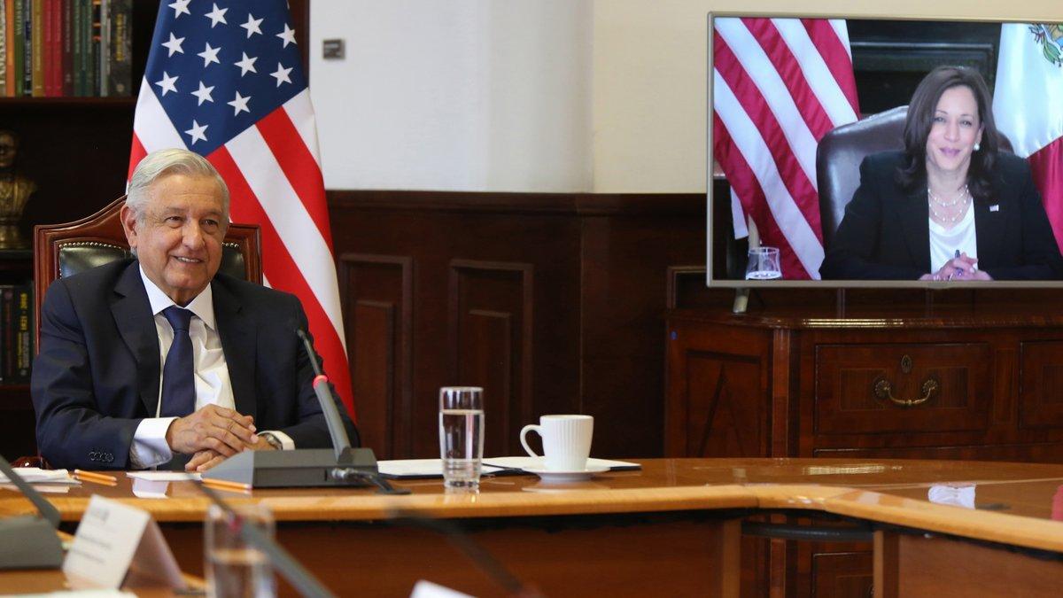 Conversamos en términos amistosos con la vicepresidenta de Estados Unidos, Kamala Harris. Estamos comprometidos a trabajar juntos para buscar medidas eficaces, humanas y justas al fenómeno migratorio. https://t.co/3ZOcuRsMJT