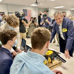Vocational education provides students w/ invaluable hands-on experience to prepare them for success in TN's workforce & schools like Fairview High School are leading the charge. Great meeting the skilled mechatronics students who are career-ready because of vocational education