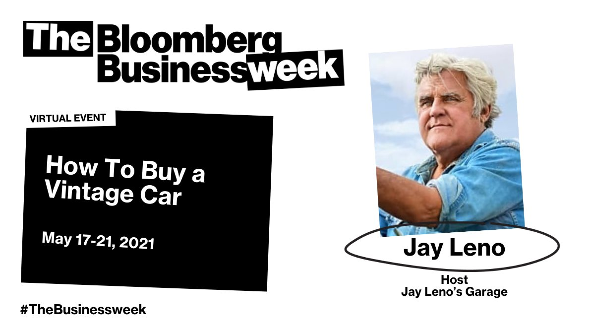 @BloombergLive: In the market for a classic car? @luxury's @HannahElliott sits down with @jayleno to get the best tips and tricks at #TheBusinessweek.