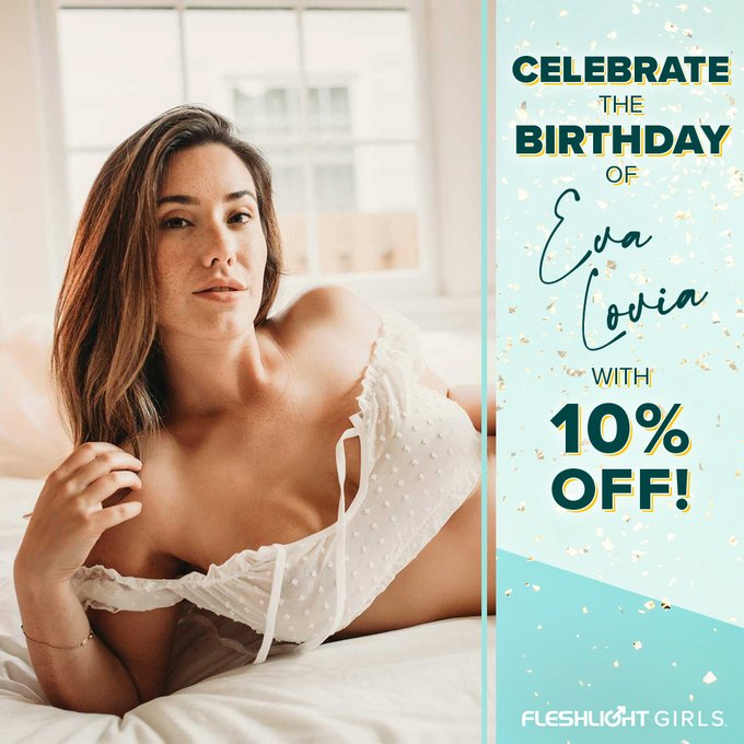Celebrate Fleshlight Girl @fallinlovia's birthday ALL MONTH with 10% off her Fleshlight by using coupon