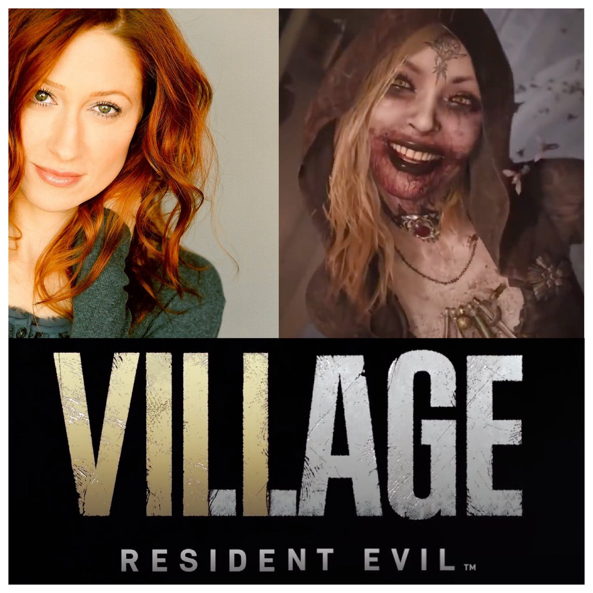 Ecstatic to reveal I play the eldest vampire witch sister BELA Dimitrescu in @RE_Games Resident Evil VIII VILLAGE!! Launched today! (RED pendant necklace) ❣️🙏🏻❣️ Yay Jesus for your blessings. #residentevil #ResidentEvil8 #residentevilllage #voiceactor #performancecapture #gaming https://t.co/zHoEZM7Dcn