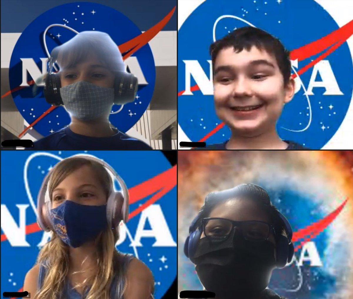 Học sinh lớp 3 Barrett thể hiện #KWBPride NASA Explorer School Spirit khi tìm hiểu về các loại máy đơn giản với @NASA_eClips #FunFriday #Science @APSscience @NASA_Langley @NASASTEM #NASAedu https://t.co/eFjR9uIR1N