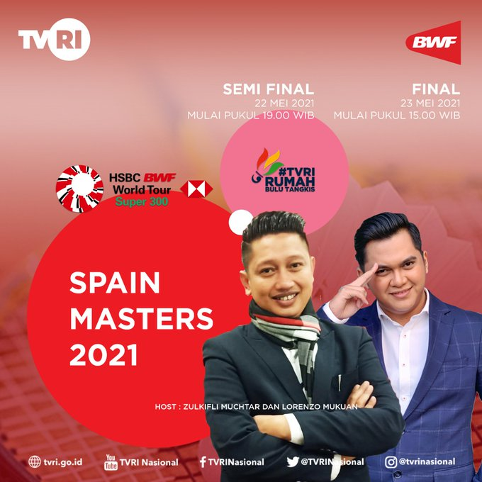 Spain Masters 2021 Live TVRI