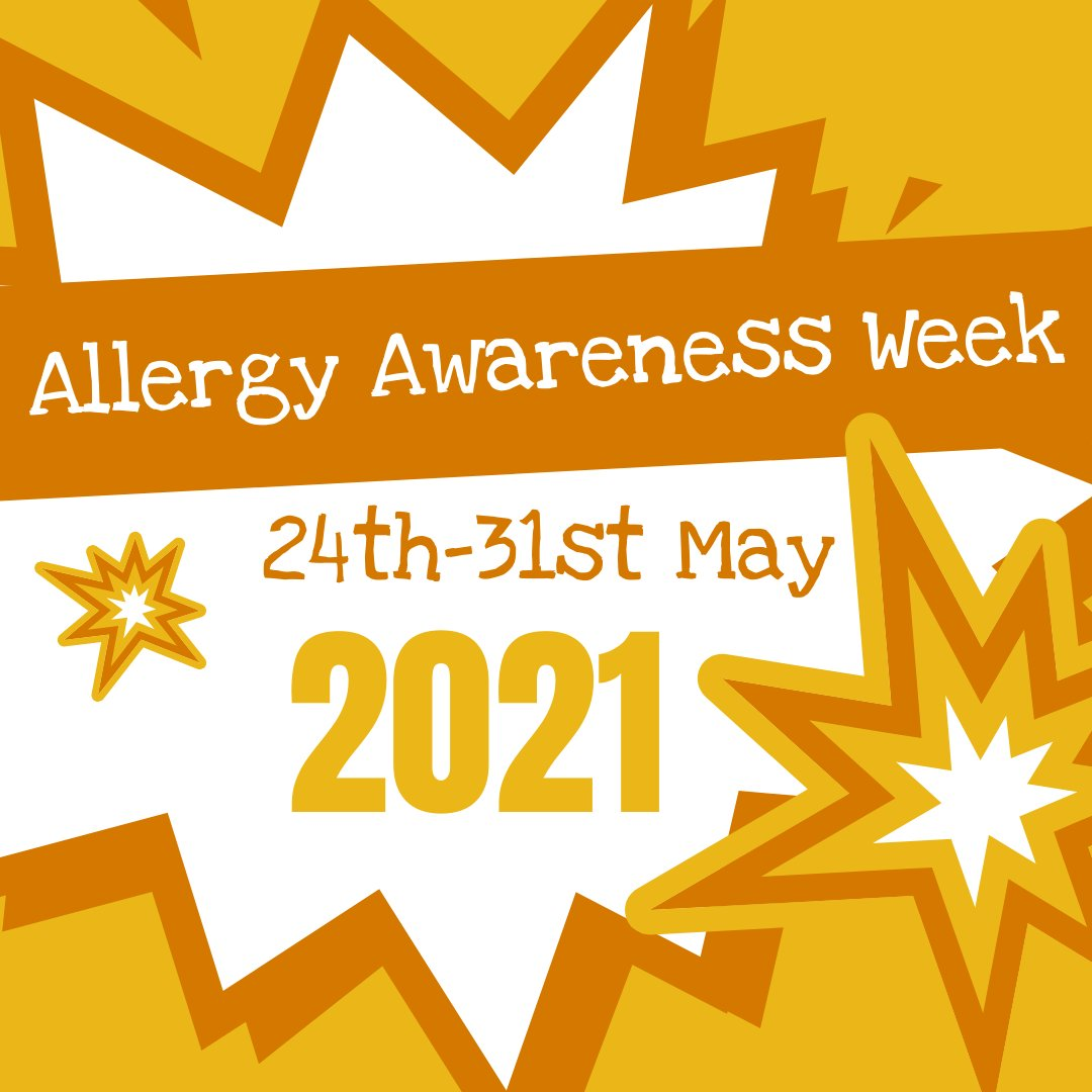 Just 4 days to go until #AllergyAwarenessWeek begins… Are you fundraising for us? Let us know! Make sure you hit our follow button, like our #allergyawarenessweek posts, and tag us in on your timelines! #sharingiscaring #allergyawareness #thankyou