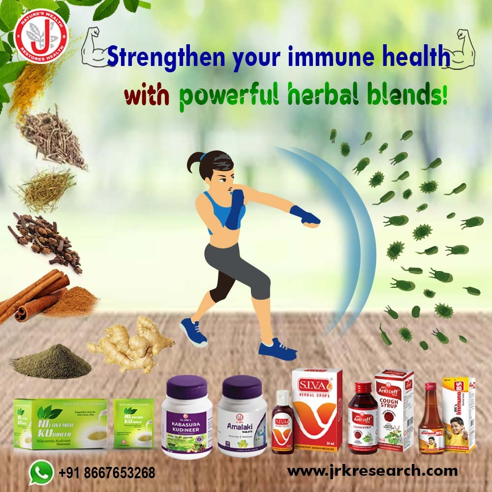 """Dr. JRK's Research and Pharmaceuticals Pvt Ltd on Twitter: """"Your immune  system does a remarkable job of defending your body against any disease. Dr. JRKs Research range of products for immune boosting To"""