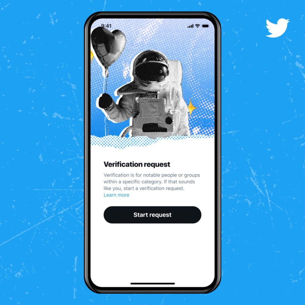 """Dear """"can you verify me"""" ––  Save your Tweets and DMs, there's a new official way to apply for a blue badge, rolling out over the next few weeks.  You can now submit an application to request verification in-app, right from your account settings!  -Your verified blue badge source https://t.co/2d1alYZ02M"""