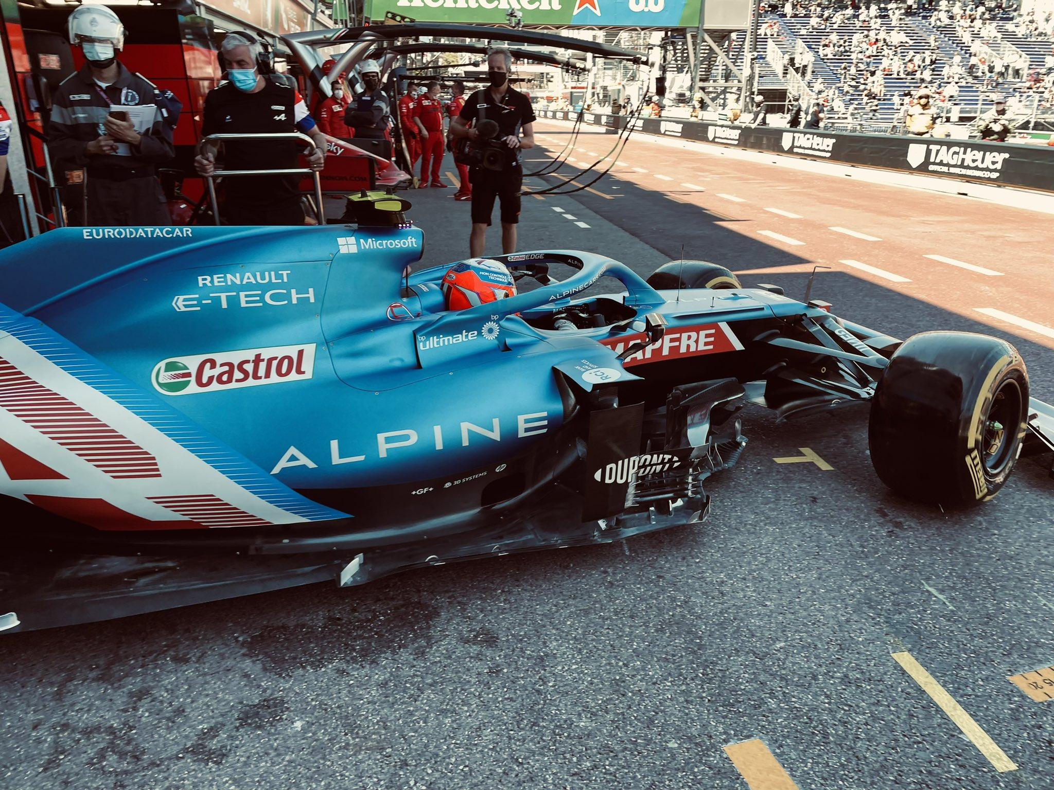 Monaco 2021 libere Alpine