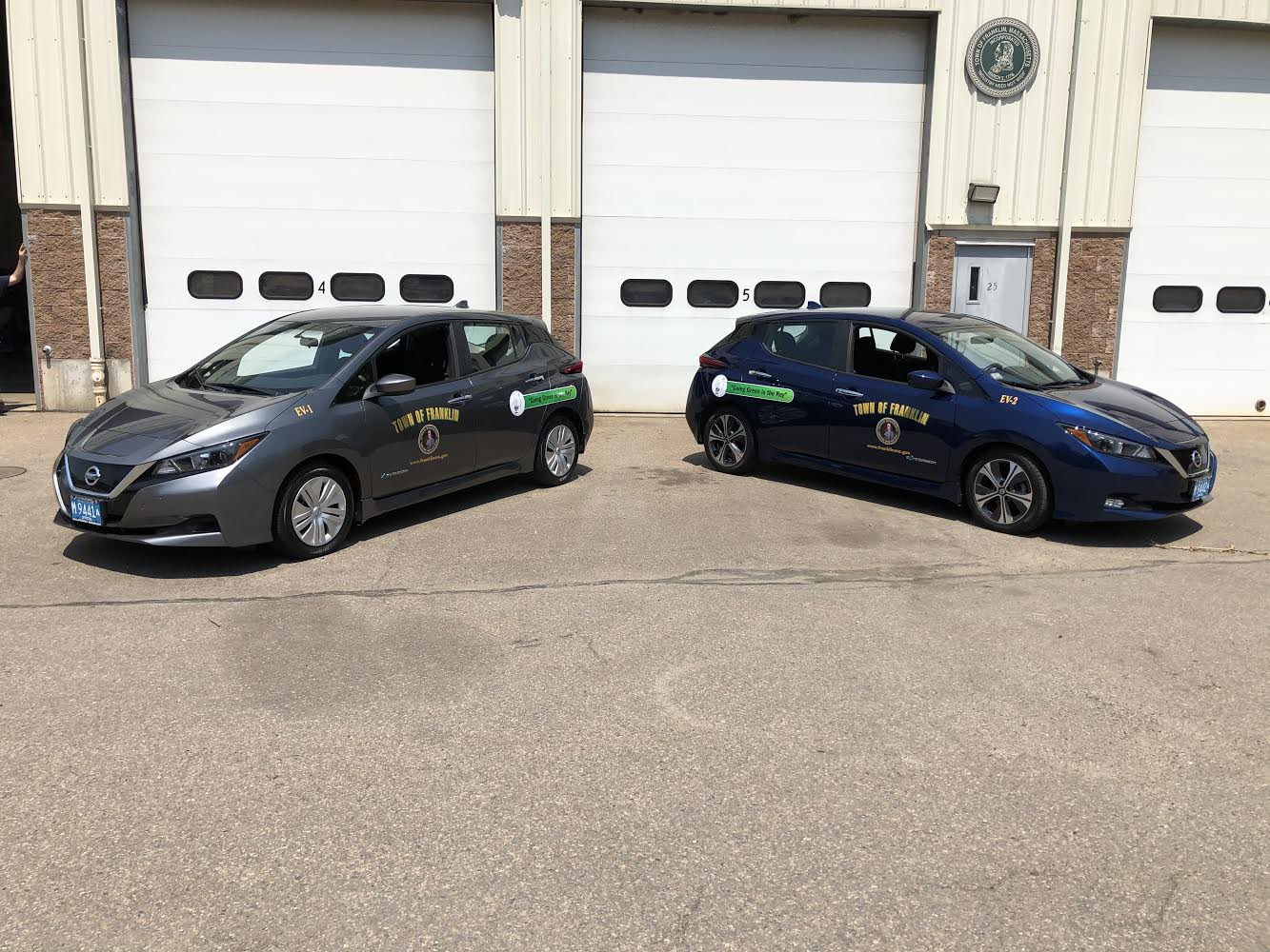 Town of Franklin acquires 2 electric vehicles with grant