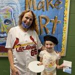 Image for the Tweet beginning: Congratulations to our Art Teacher