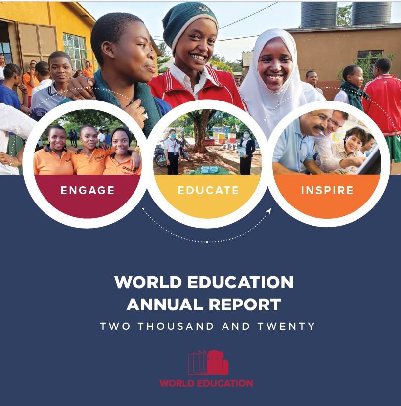 The annual report of @WorldEd is out. @WorlEd improves the quality of life through education for half a million children and adults in 20 countries. @the_vic_toria @KwabenaBenyin_ @JSIhealth @Wilson_MHI @SivananthiT @ICDPGhana @victoria_neff @graniamotsi @naseernashu0408 @TheGEPN