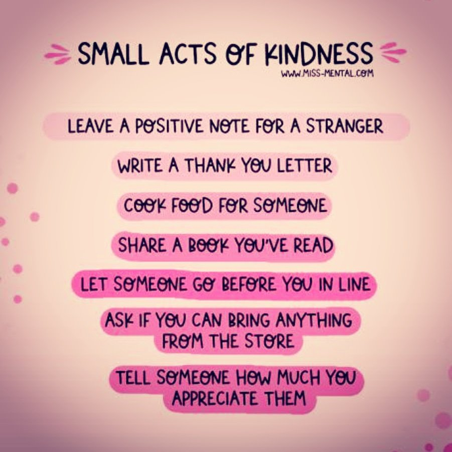 Carry out a random act of kindness, with no expectation of reward, safe in the knowledge that one day someone might do the same for you. #kindness #FridayVibes #FridayThoughts #fridaymorning #mentalhealth #MentalHealthAwarenessMonth #MentalHealthAwarenessWeek https://t.co/uuqH8zChdu